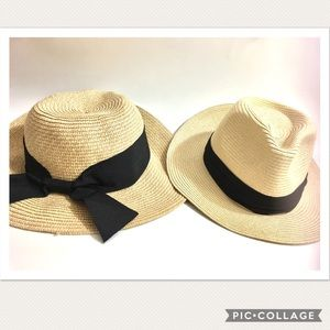 Accessories - His And Hers Slouchy Straw Hats (get both)